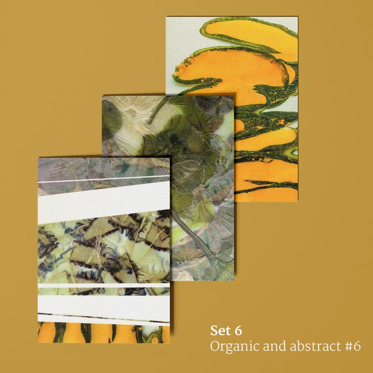 Organisch en abstract #6: ansichtkaarten voorkant